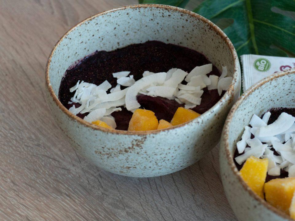 Smoothie miska s ovocnými vločkami recept